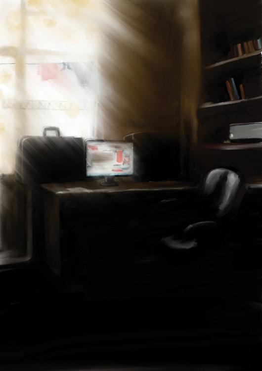 Çalışma odası ( corel paimter )