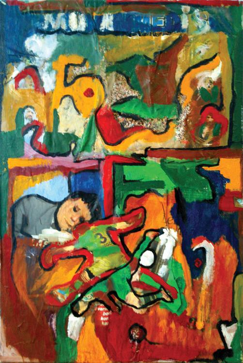 Mucadele ( yağlı boya )