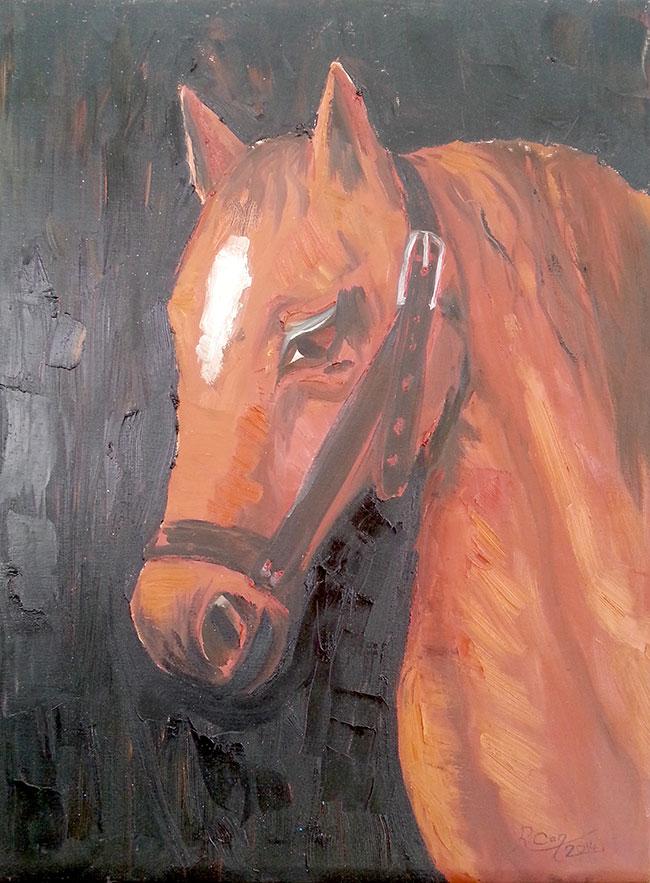 At Kafası – Yağlı Boya