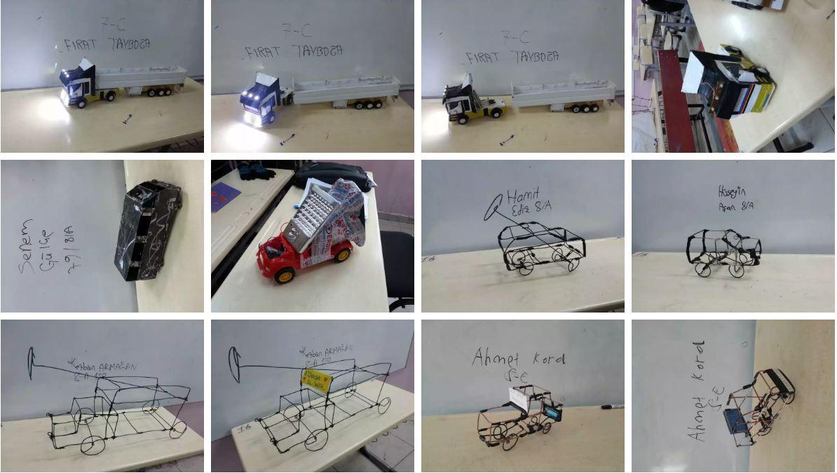23 Nisan Ortaokulu Araç Tasarımları Öğrenci çalışmaları – 2016