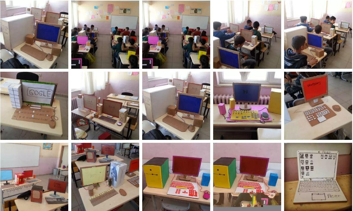 23 Nisan Ortaokulu Bilgisayar Maketi Öğrenci çalışmaları – 2016-2017