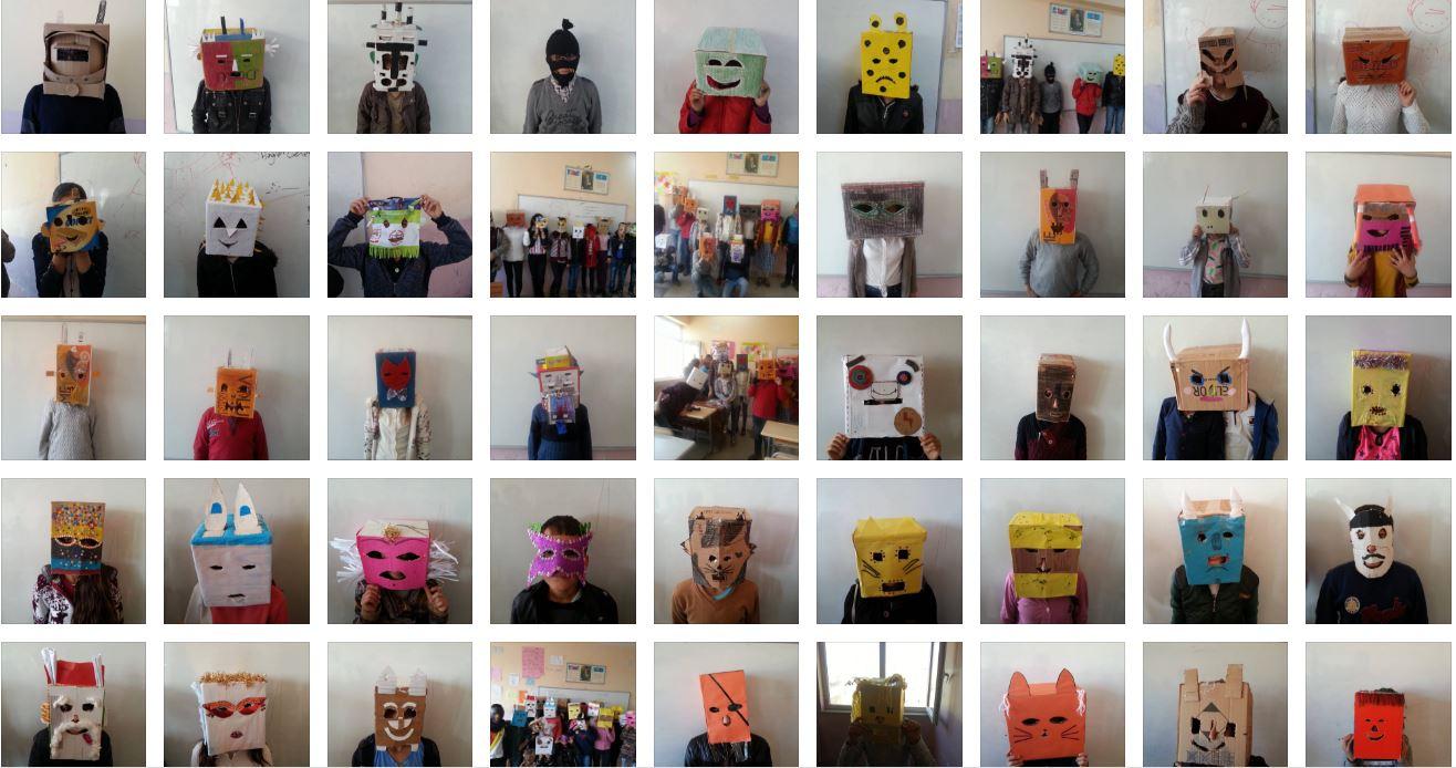 23 Nisan Ortaokulu Maske Tasarımı Öğrenci çalışmaları – 2016-2017