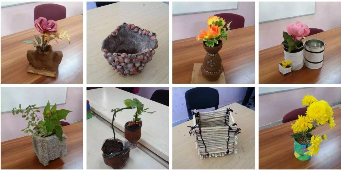 23 Nisan Ortaokulu Saksı Tasarımları Öğrenci çalışmaları – 2016-2017